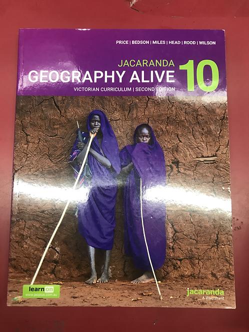 Jacaranda Geography Alive 10 2E Victorian Curriculum (SECOND HAND)