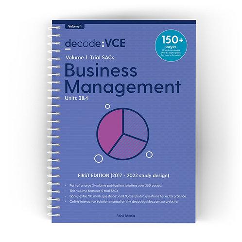 Decode: VCE Business Management Units 3&4 Volume 1