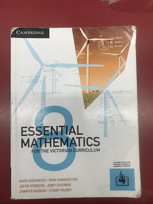 Essential Mathematics for the Victorian Curriculum (SECOND HAND)
