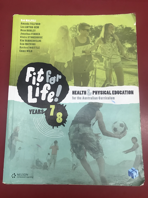 Nelson Fit for Life! for AC Levels 7&8 Student Book (SECOND HAND)