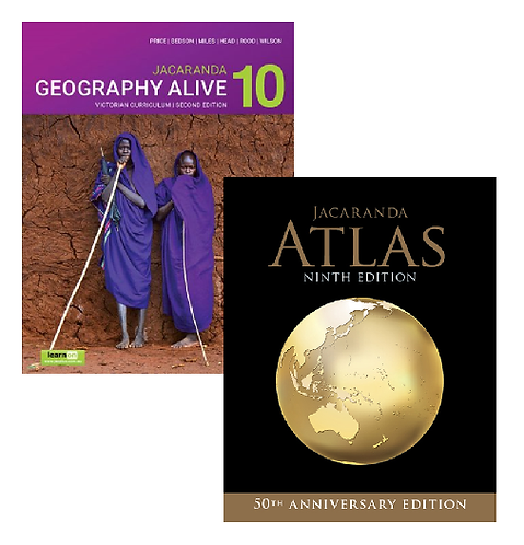 Jacaranda Geography Alive 10 2E Victorian Curriculum + Atlas 9E (PRINT + DIGITAL