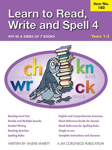 Spell Book 4 Yrs K to 1 (Item no. 180)