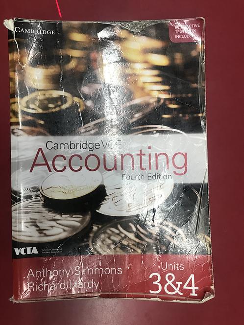 Cambridge VCE Accounting Units 3&4 4E (SECOND HAND)