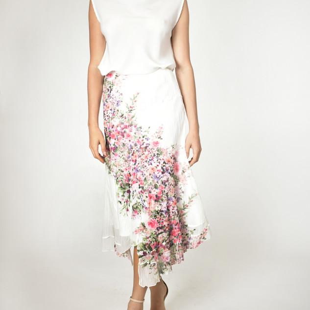 Komarov Tiered Long Skirt $196
