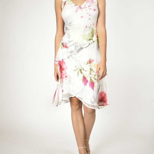 Komarov V Neck Layered Dress $319