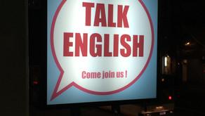 TALK ENGLISH 看板について