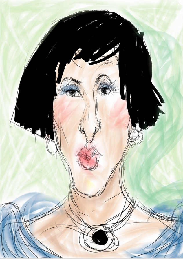 Portrait - lady with the long nose