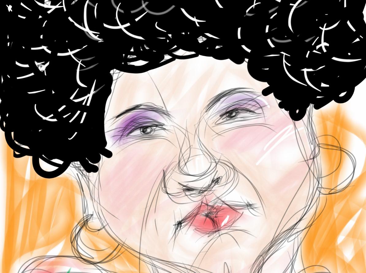 Portrait - lady with big hair
