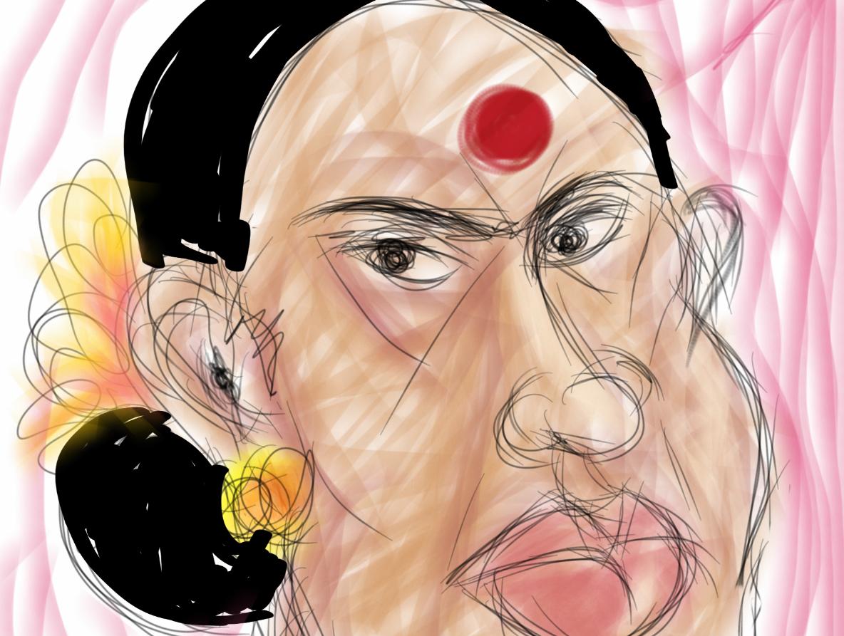 Portrait - lady with the big bindi