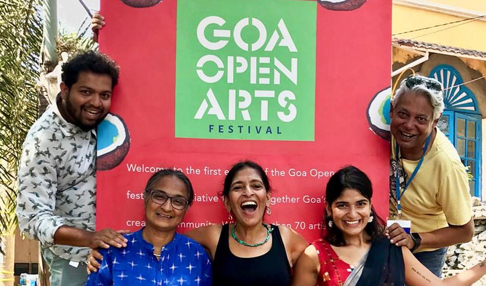 Goa Open Arts organisers