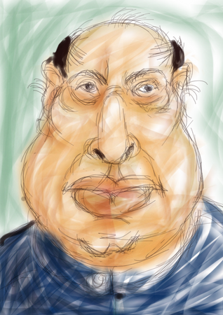 Portrait - man with the fat mouth