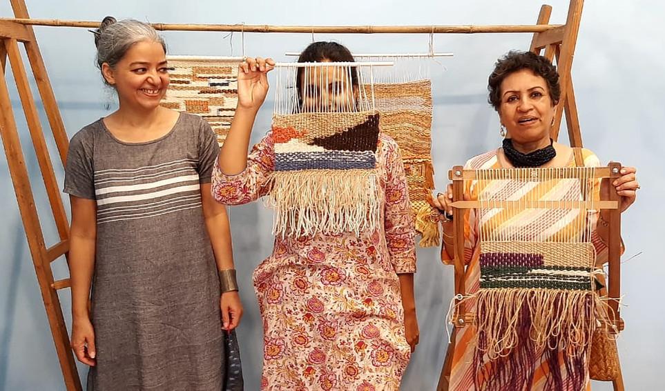 Weaving workshop by Poonam Pundit