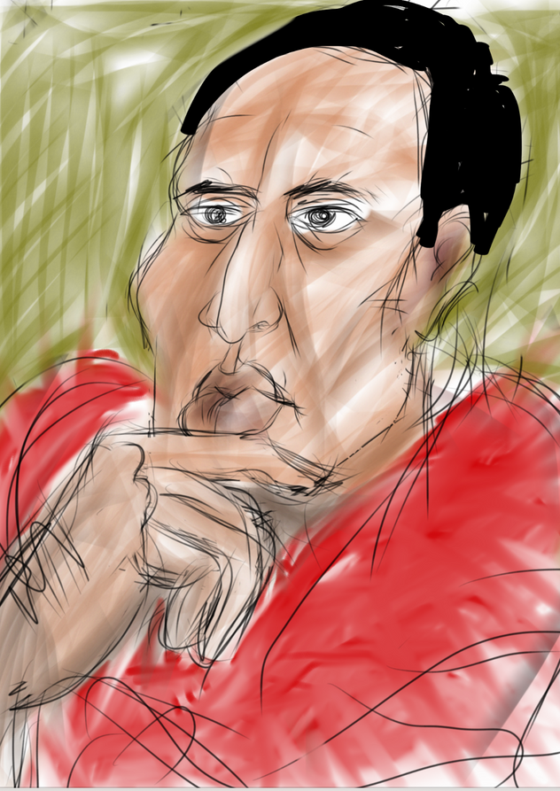 Portrait - man in thought