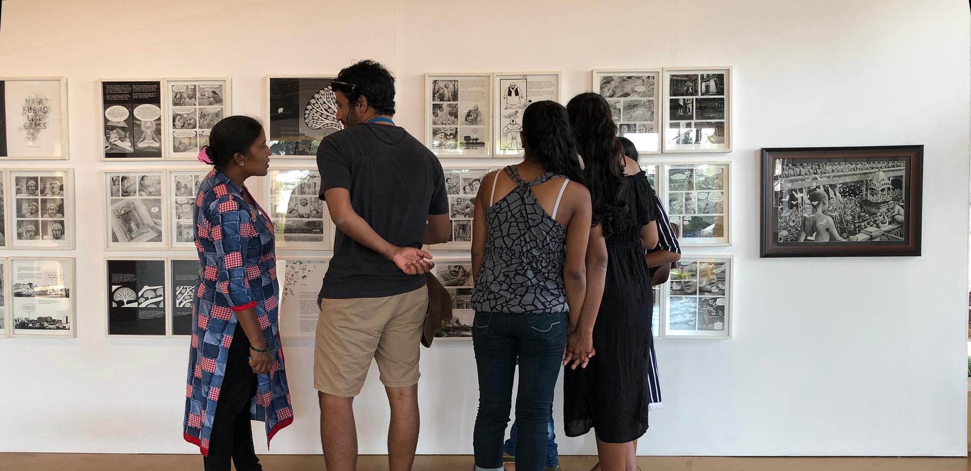 Visitors at the Art Pavilion