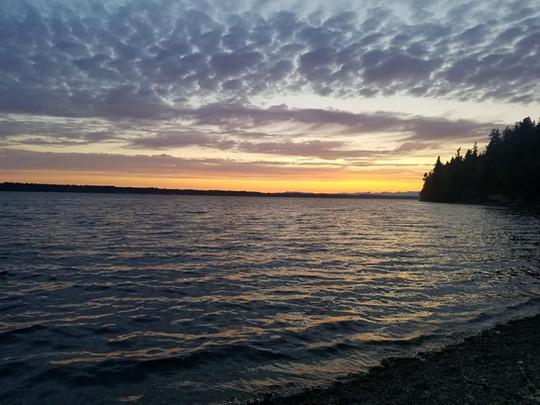 Sunset on the Salish Sea