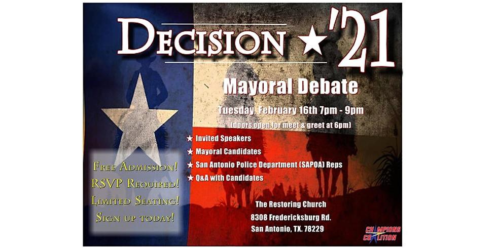 Decision '21: San Antonio Mayoral Debate