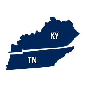 Tennessee & Kentucky Map