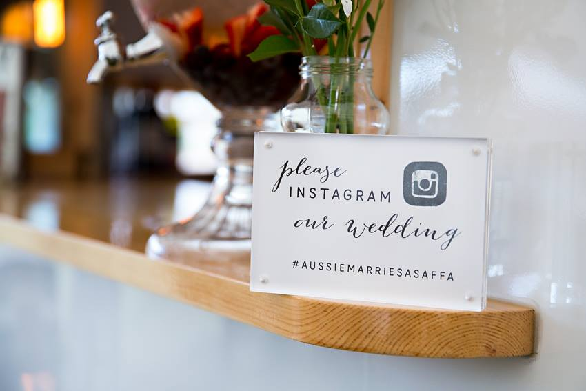 Custom Instagram sign