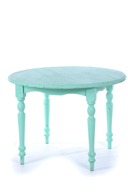 Vintage green round table