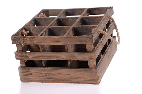 Timber wine crate - Holds 9 bottles