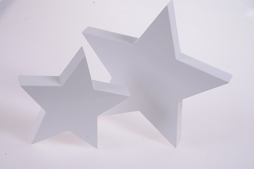 White gloss stars - Set of two