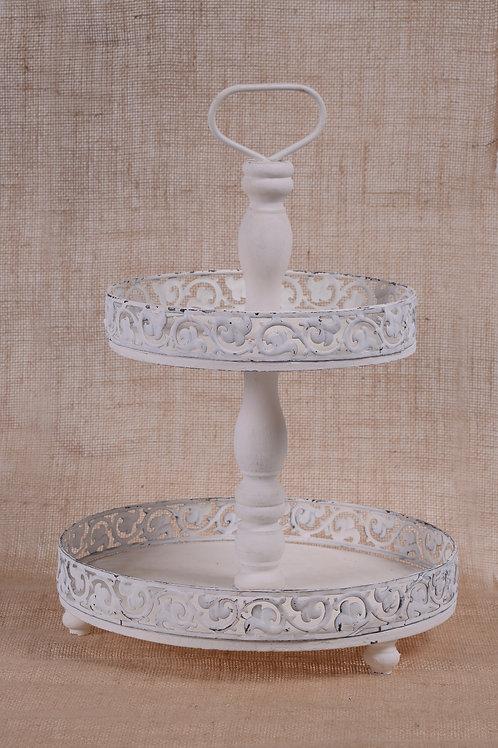 Vintage two tier cupcake holder