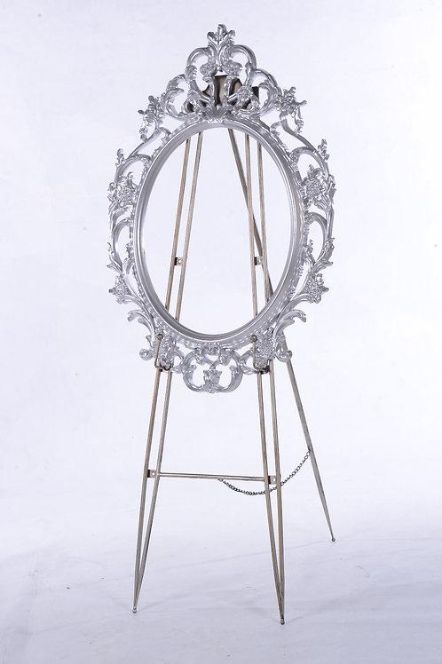 Decorative silver frame - Oval