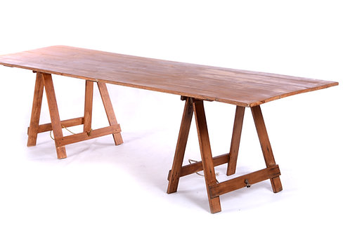 Timber trestle table