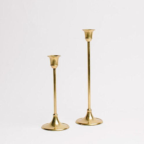 Gold Candlestick Holder - Small
