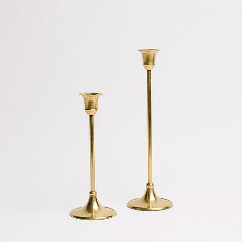 Gold Candlestick Holder - Large