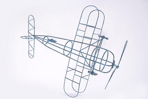 Blue wire plane