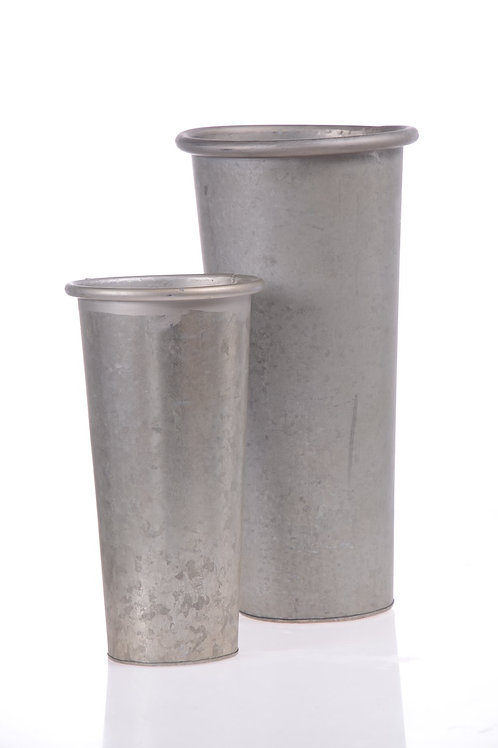 Natural tin vase - Medium