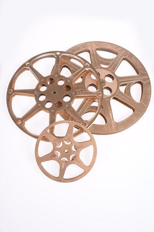 Gold movie reels