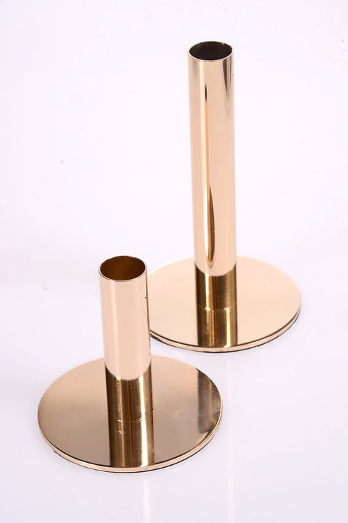 Gold candle holder - Large