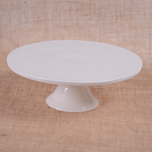 White Ceramic Cake Stand - Large
