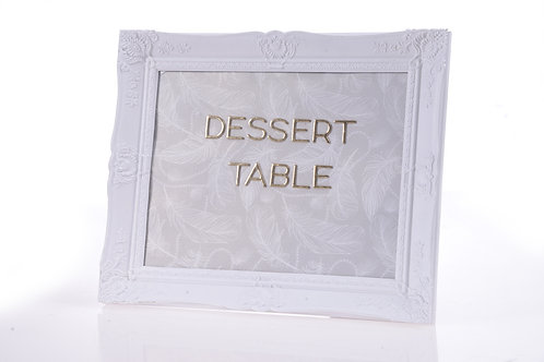 'Dessert table' in white frame