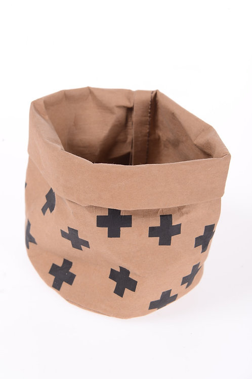 Paper bag with black cross