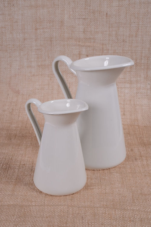 White milk jug - medium
