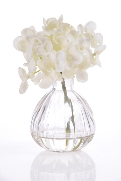 Artificial White Flower In Glass Vase