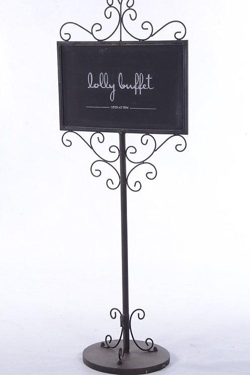 Metal blackboard sign