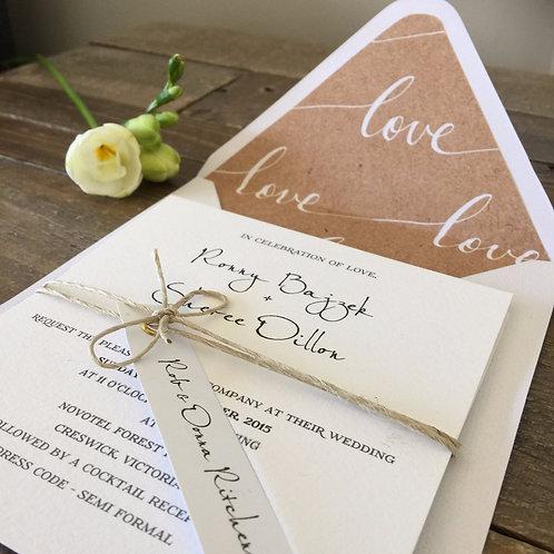 Grace wedding invitation with envelope