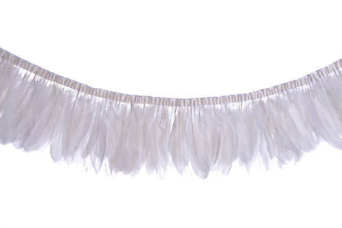 White feather bunting