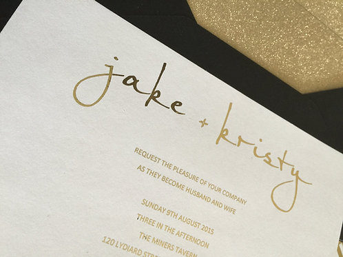 Luxe weddin invitation suite