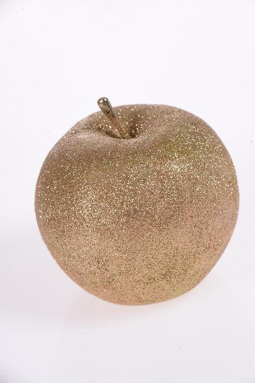 Gold glitter apples