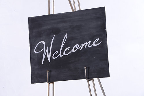 Chalkboard 'welcome' sign