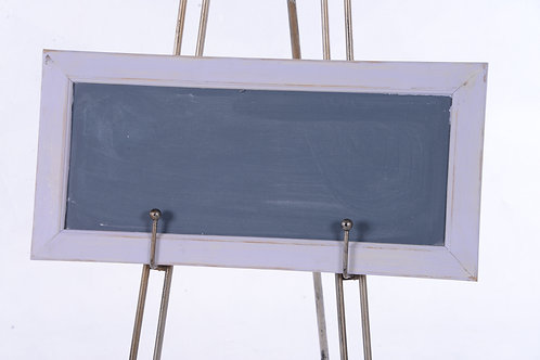 Chalkboard sign with timber frame