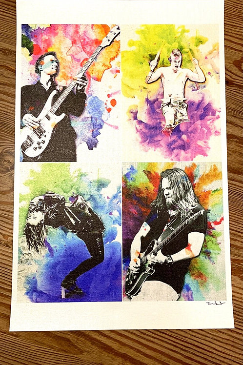 Halestorm Watercolor on 11x17 Metallic Canvas Limited to 10