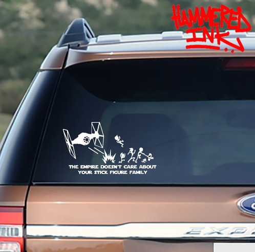 Force stick family car sticker vinyl decal custom clothing hamilton hammered ink