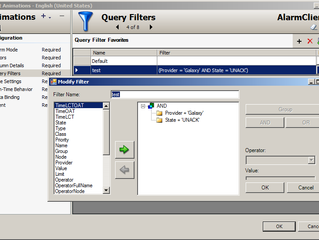 ArchestrA Alarm Client – Explaining Alarm Query and Query Filter
