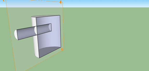 How to create two crossed cylinders in Sketchup
